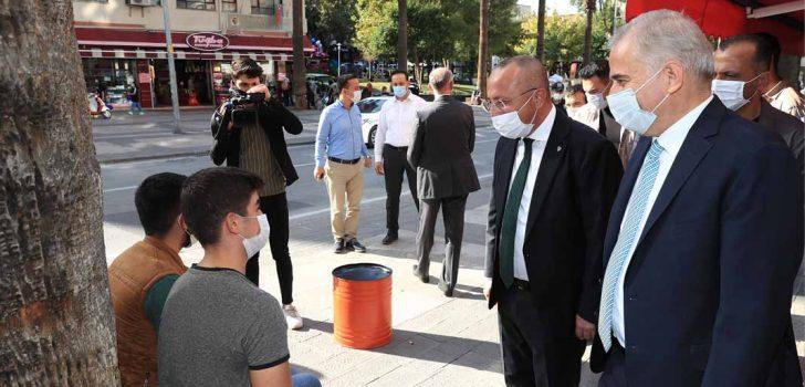 DENİZLİ'DE KORONAVİRÜS DENETİMLERİ SÜRÜYOR