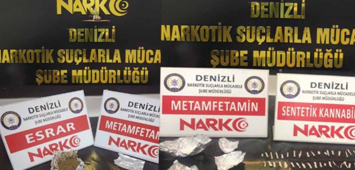DENİZLİ'DE 17 ZEHİR TACİRİ YAKALANDI