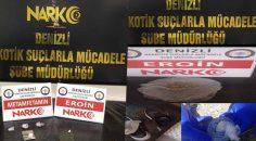 DENİZLİ'DE 19 ZEHİR TACİRİ YAKALANDI